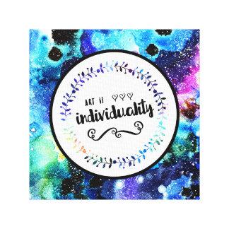 De kunst is Individualiteit Canvas Print