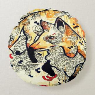 De kunst Japanse kunst van de waterverf, oranje Rond Kussen