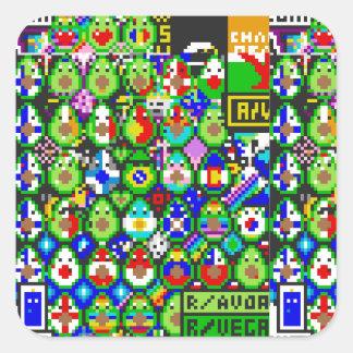 De Kunst van Avacado van /r/place Vierkante Sticker