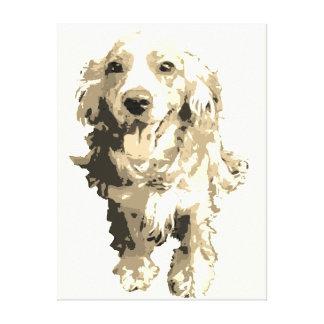 De kunst van de de hondMuur van de cocker-spaniël Canvas Print