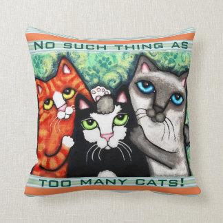 De Kunst van de Kat van de grappige Minnaar van de Sierkussen