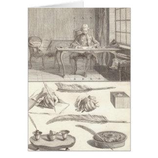 De Kunst van de kunst d'Ecrire van het Schrijven Kaart