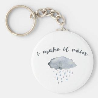 """De Kunst van de Wolk van de regen met Citaat """"ik Sleutelhanger"""