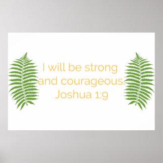 De Kunst van het Vers van de bijbel, 1:9 Joshua Poster