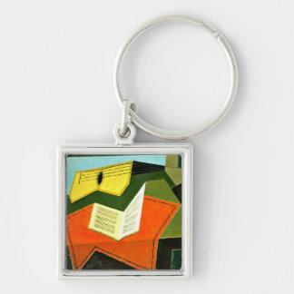 De kunst van Juan Gris: Gitaar en het schilderen v Sleutelhanger
