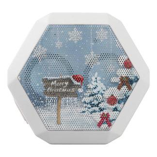 De kunst van Kerstmis - Kerstmisillustraties Witte Bluetooth Speaker