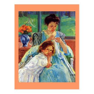 De kunst van Mary Cassatt: Jonge Moeder, het Briefkaart