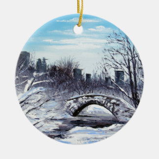 De Kunst van New York, Central Park, Landschap Rond Keramisch Ornament