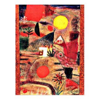 De Kunst van Paul Klee: Ceremonie en Zonsondergang Briefkaart