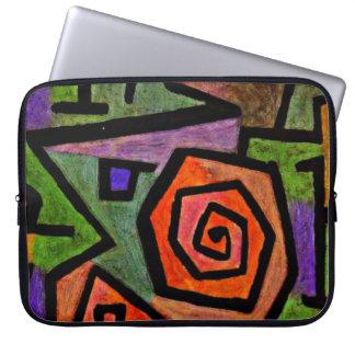 De kunst van Paul Klee: Heldhaftige Rozen, het Laptop Sleeve