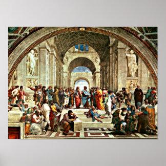 De kunst van Raphael - School van Athene - Poster