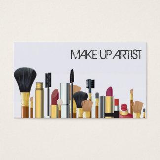 De Kunstenaar van de make-up, het Visitekaartje Visitekaartjes