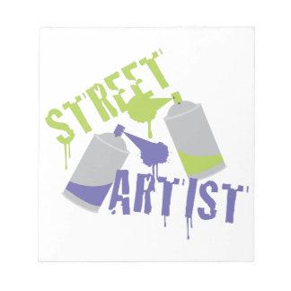 De Kunstenaar van de straat Notitieblok