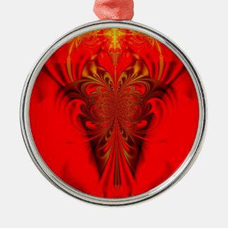 De kunstenrood van Digitla Zilverkleurig Rond Ornament