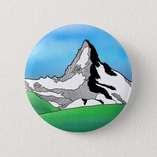 De kunstwaterverf van de Lijn van Zwitserland van Ronde Button 5,7 Cm