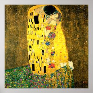 De kus door de Fine Art Poster Druk van Gustav