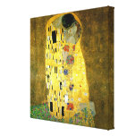 De kus door Gustav Klimt Stretched Canvas Prints