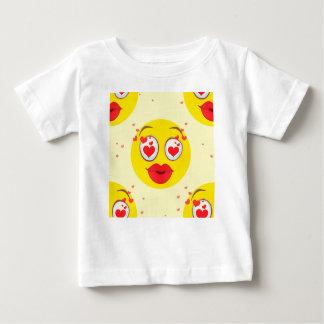 De kus Emoji van Valentijn Baby T Shirts