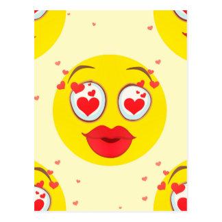 De kus Emoji van Valentijn Briefkaart
