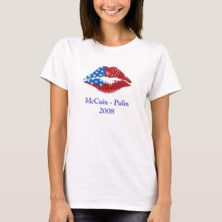 De Kus van de Lippenstift van de vlag, McCain - T Shirt