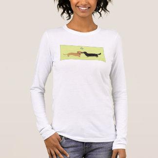 De Kus van de Maretak van de tekkel - Kerstmis van T Shirts