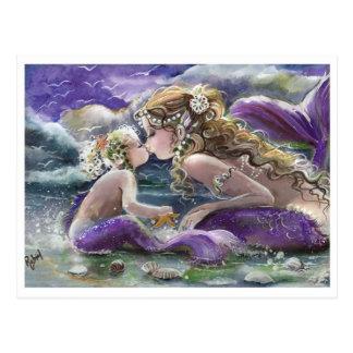 De kussende Meerminnen van het Mamma en van het Briefkaart