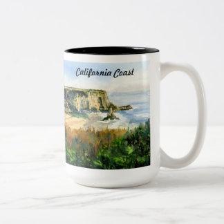 De Kust van Californië Tweekleurige Koffiemok