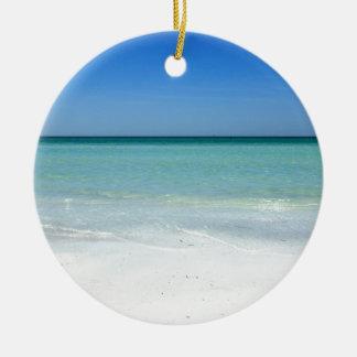 De Kust van de Golf van het Strand van de siësta Rond Keramisch Ornament