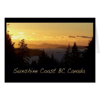 De Kust van de Zonneschijn van de zonsondergang BC Kaart