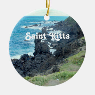 De Kust van heilige Kitts Rond Keramisch Ornament