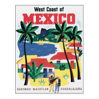 De Kust van het westen van Kleurrijke grafisch van Briefkaart