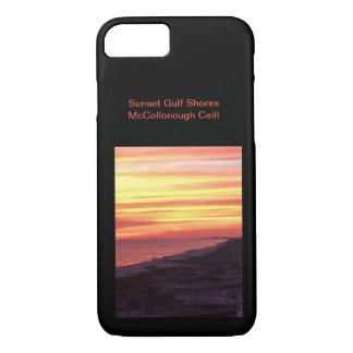 De Kusten van de Golf van de zonsondergang iPhone 8/7 Hoesje