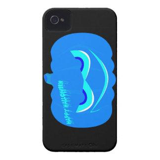 De kwade Blauwe Pompoen van Halloween iPhone 4 Hoesje
