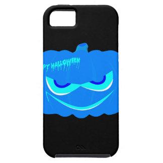 De kwade Blauwe Pompoen van Halloween Tough iPhone 5 Hoesje