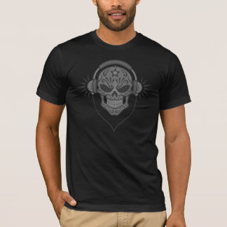 De kwade (donkere) Schedel van de Suiker van DJ T Shirt
