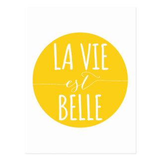 de La vie est schoonheid, het leven is mooi, Frans Briefkaart