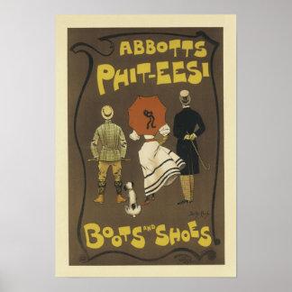 De Laarzen en de Schoenen van phit-Eesi van Poster