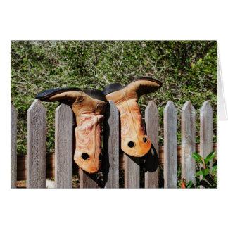 De Laarzen van cowboys Kaart