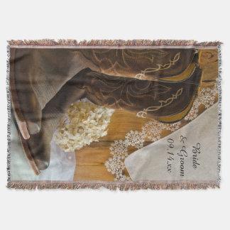 De Laarzen van de cowboy en het Westerne Huwelijk Deken