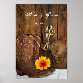 De Laarzen van de cowboy, het Westerne Huwelijk Poster