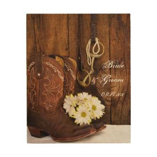 De Laarzen van de cowboy, Madeliefjes, het Hout Afdruk