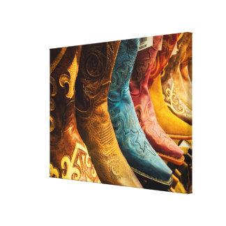 De laarzen van de cowboy voor verkoop, Arizona Canvas Print