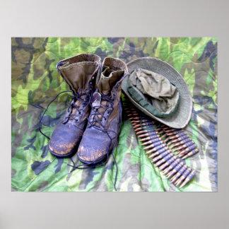 De laarzenposter van het gevecht poster