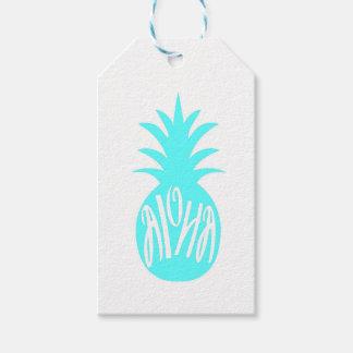De Labels van de Gift van de Ananas van Aloha Cadeaulabel