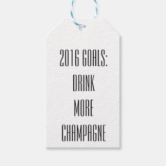 De Labels van NYE Champagne Cadeaulabel