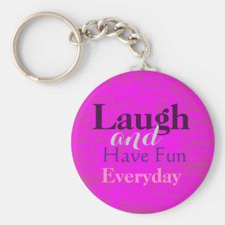 De lach en heeft Pret Dagelijkse Keychain Sleutelhanger