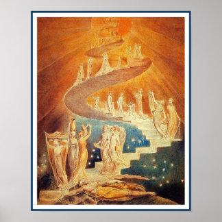 De Ladder van Jacob door William Blake Poster