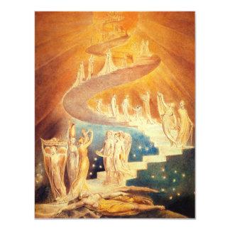 De Ladder van William Blake Jacob's 10,8x13,9 Uitnodiging Kaart
