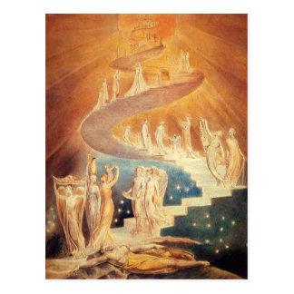 De ladder William Blake van Jacobs van de kunst Briefkaart