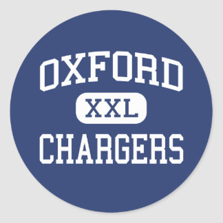 De Laders MiddenOxford de Mississippi van Oxford Ronde Sticker